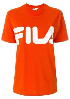 Fila logo print T-shirt - Yellow & Orange
