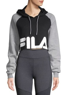 FILA Luciana Colorblocked Cropped Hoodie