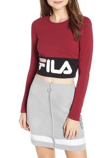 FILA Maria Logo Crop Top