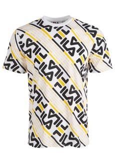 Fila Men's Calvin Allover Logo Graphic T-Shirt