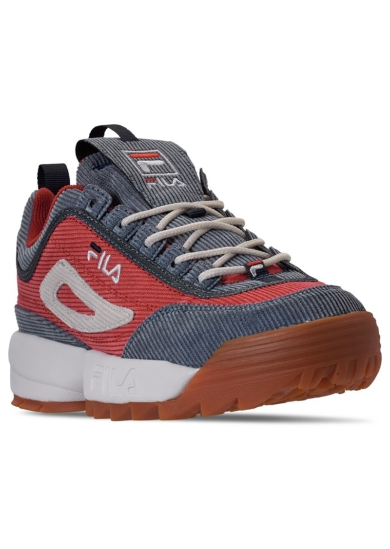 Fila Men's Disruptor Corduroy Casual Athletic Sneakers from Finish Line
