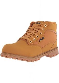 Fila Men's Grunge 1 Fashion Boot Wheat Navy red  Medium US