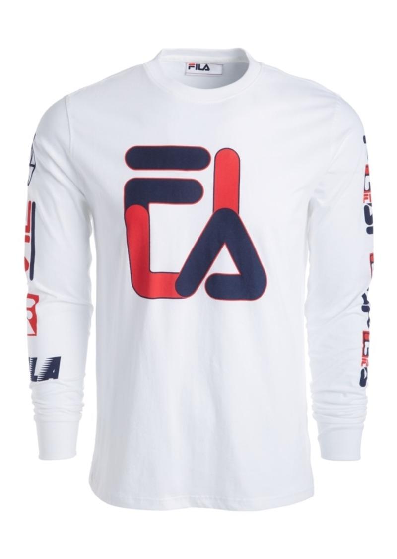 Fila Men's Long-Sleeve Logo T-Shirt