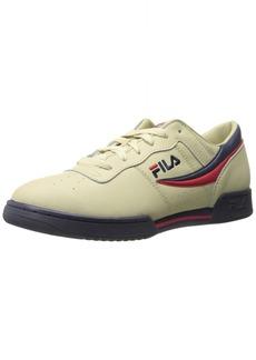 Fila Men's Original Fitness Fashion Sneaker Cream/Peacoat Red  M US