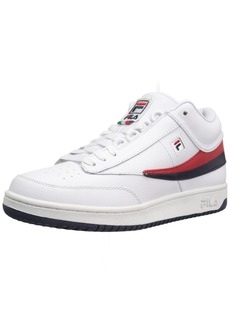 Fila Men's T-1 MID Fashion Sneaker White Navy Red  M US