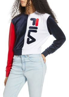 FILA Nicoline Logo Velour Sweatshirt