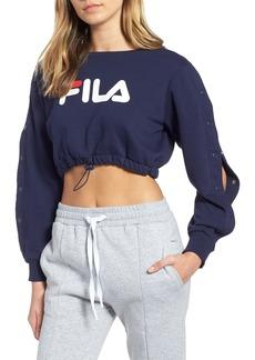 FILA Snap Sleeve Crop Sweatshirt