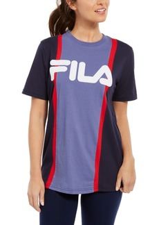 Fila Victoire Cotton Colorblocked T-Shirt