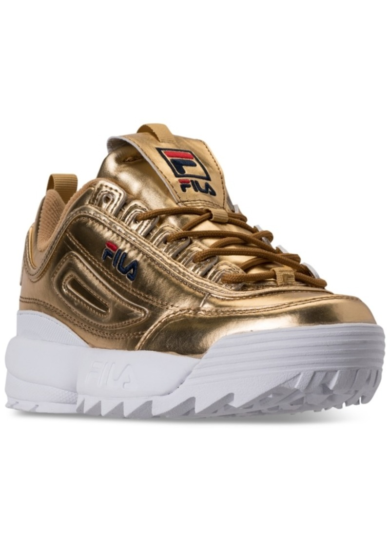 c2ab1b25c2ba Fila Women s Disruptor Ii Premium Metallic Casual Athletic Sneakers from  Finish Line