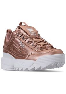 Fila Women's Disruptor Ii Premium Metallic Casual Athletic Sneakers from Finish Line