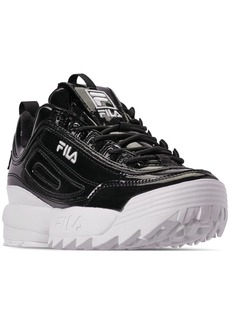 Fila Women's Disruptor Ii Premium Patent Casual Athletic Sneakers from Finish Line