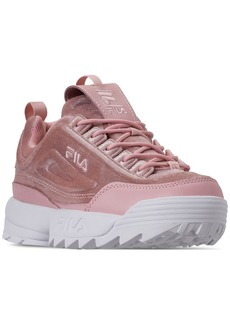 Fila Women's Disruptor Ii Premium Velour Casual Athletic Sneakers from Finish Line
