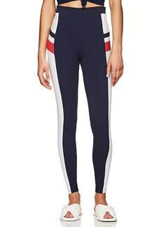 FILA Women's Greta Logo Stretch-Cotton High-Waist Leggings