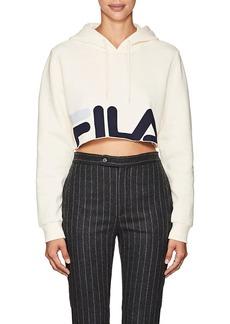 FILA Women's Logo Cotton-Blend Crop Hoodie