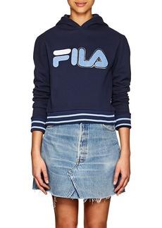 FILA Women's Logo Cotton-Blend Fleece Hoodie