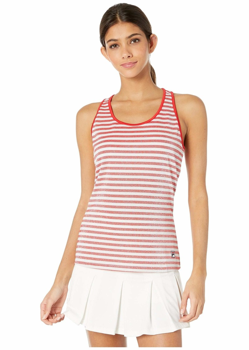 Fila Heritage Tennis Sparkle Stripe Tank Top