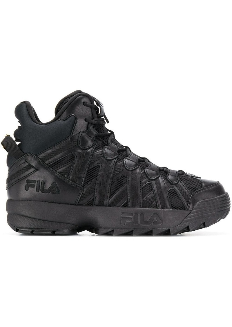 Fila hi-top oversized sole sneakers