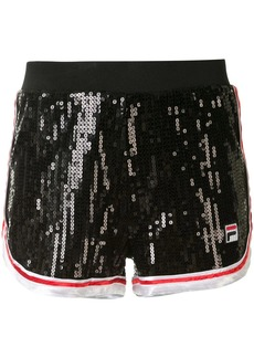 Fila high-rise sequin embellished running shorts