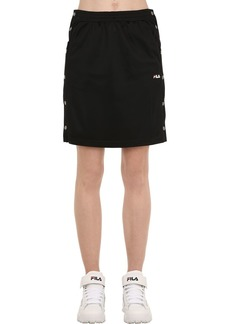 Fila Jenna Cotton Track Skirt W/ Snap Buttons