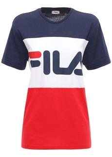 Fila Large Logo Cotton Jersey T-shirt