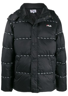 Fila logo-band hooded jacket