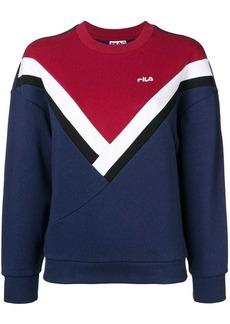 Fila logo colour block sweatshirt