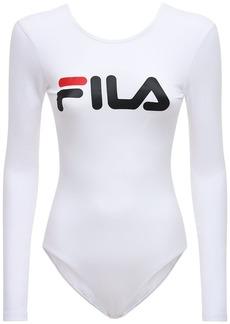 Fila Logo Cotton Blend Bodysuit