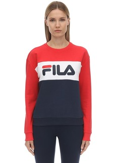 Fila Logo Cotton Blend Sweatshirt