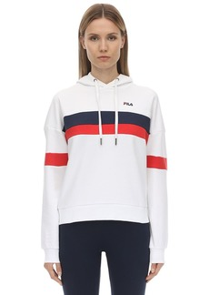 Fila Logo Cotton Blend Sweatshirt Hoodie