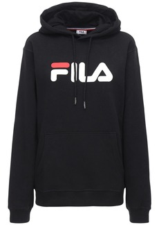 Fila Logo Cotton Blend Sweatshirt Hoodie