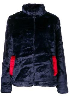 Fila logo faux fur jacket