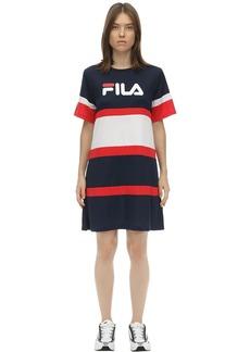 Fila Logo Nylon T-shirt Dress