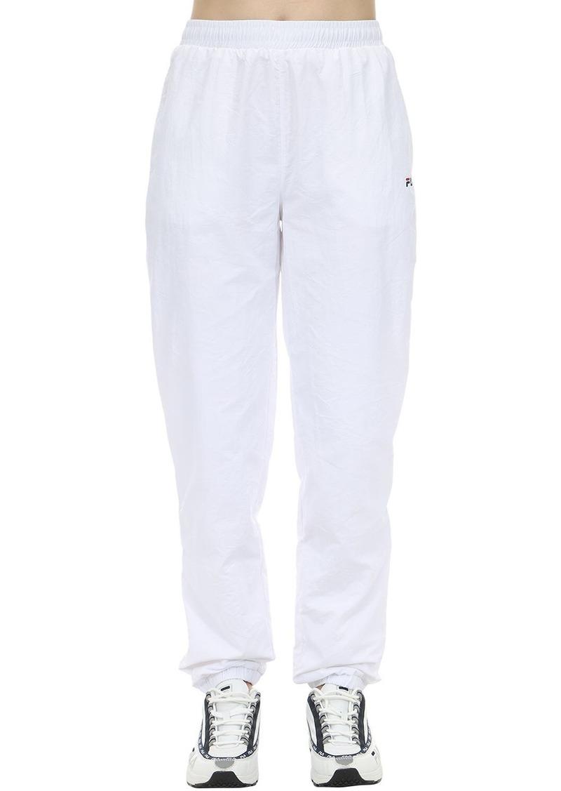 Fila Logo Nylon Track Pants