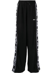 Fila logo-panelled wide trousers