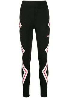 Fila logo print stripe detail performance leggings