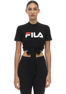 Fila Logo Stretch Cotton Top W/ Drawstring