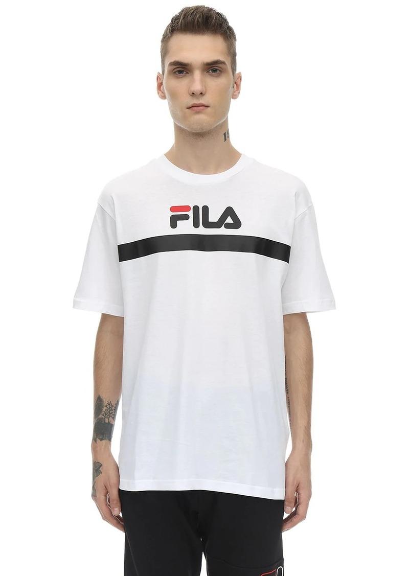 Fila Logo Stripe Cotton Jersey T-shirt