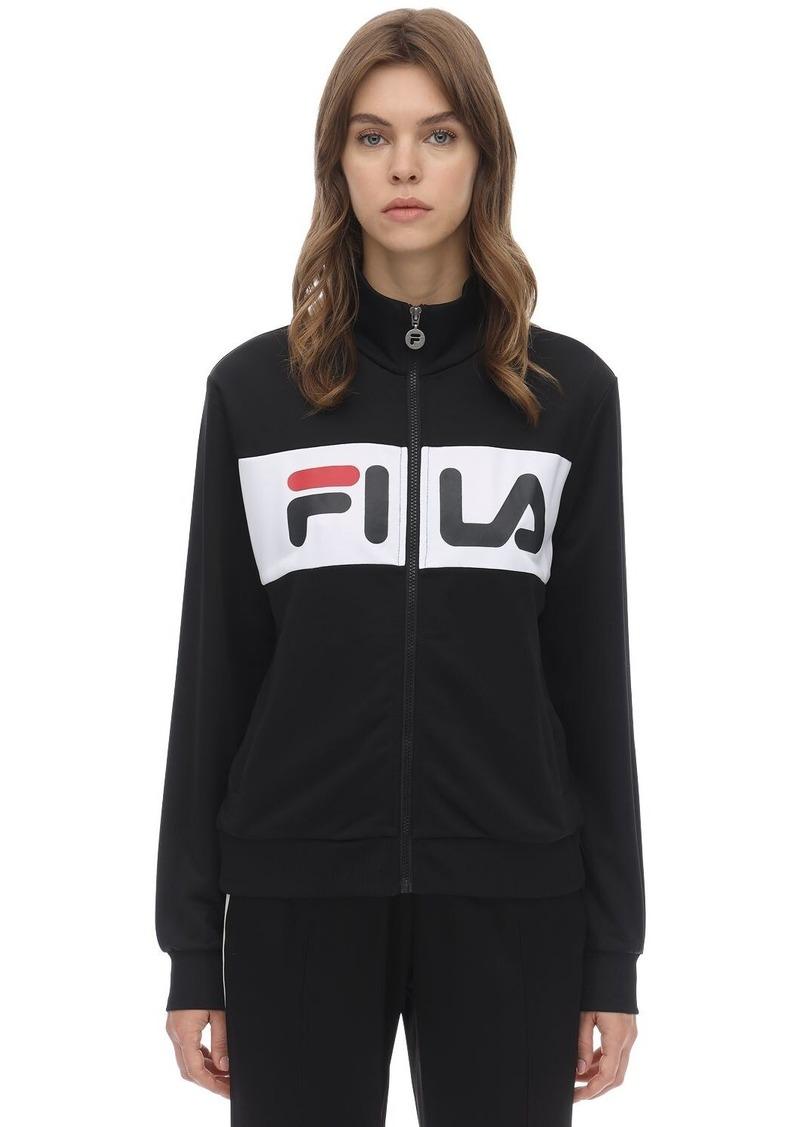 Fila Logo Stripe Zip-up Techno Track Top