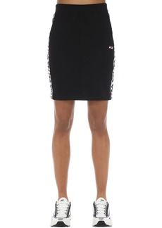 Fila Logo Tape Cotton Blend Skirt