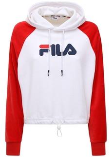 Fila Logo Velour Sweatshirt Hoodie