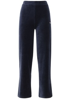 Fila Logo Velour Tracksuit Pants