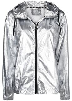 Fila metallic-effect hooded jacket