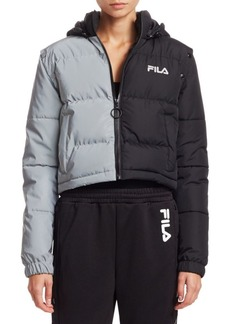 Fila Mikayla Snap Off Sleeve Cropped Puffer Jacket