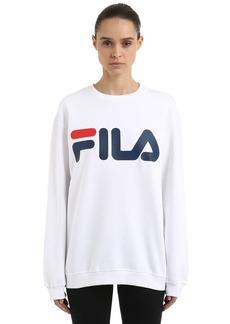 Fila Oversized Logo Printed Cotton Sweatshirt