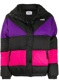 Fila Reilly colour-block puffer jacket