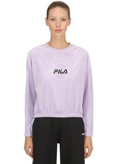 Fila Ruby Velvet Cropped Sweatshirt