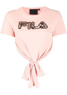 Fila snakeskin print logo T-shirt
