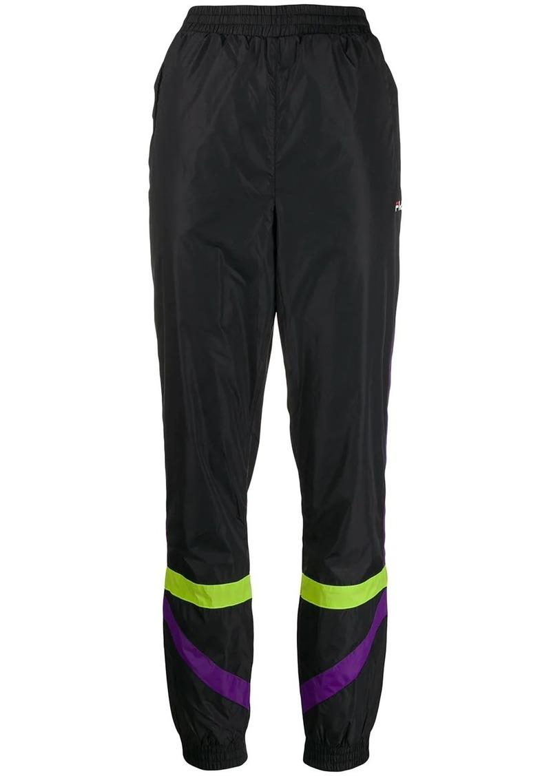 Fila striped high waisted track pants