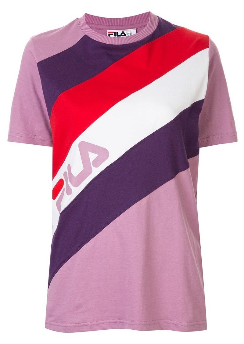 Fila striped logo T-shirt