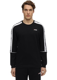 Fila Teom Logo Cotton Blend Sweatshirt